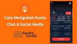 Cara Ubah Kuota Chat Dan Social Media