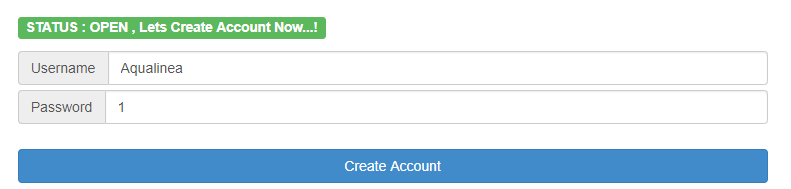 server create account